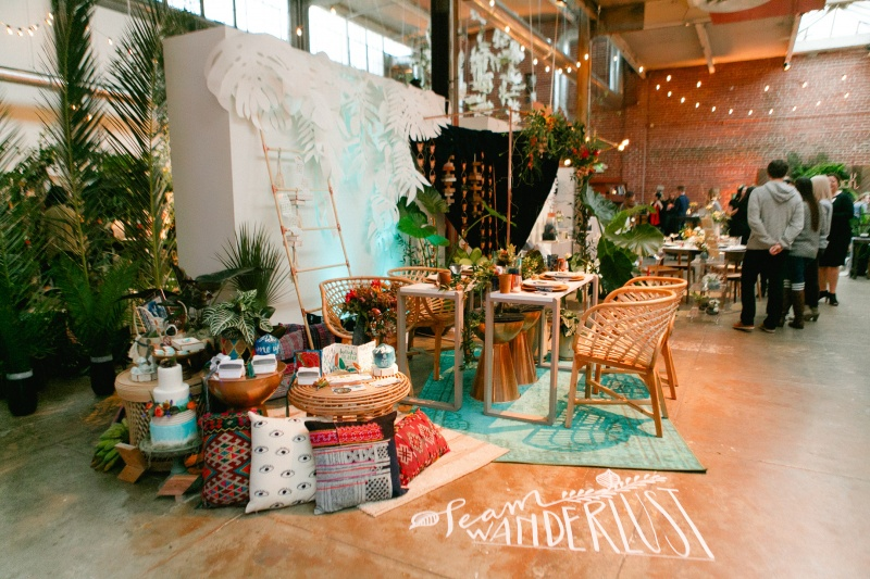 and venn floral turquoise led uplighting pin spotting color wash not pictured 3 stage lighting freshbash 2016 at beatnik studios photo bay area uplighting wedding